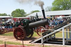 The Steam & Gas Engine Show in Pawnee, #Oklahoma not only has vintage locomotives on display but plenty of other activities for the entire #family including an #arts and #crafts show, live #music, food vendors and more.