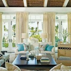 A dash of turquoise makes all the difference! As seen in Coastal Living