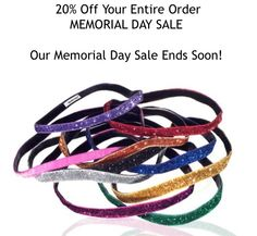 Take 20% Off Your Entire Order @SPARKLYSOULINC with code MEMORIALDAY at www.sparklysoul.com now until 5/26 at 11:59 p.m. PST.   Want to win 12 Sparkly Soul headbands of your choice? USE hashtag #sparklysoulheadbands to let your friends and family know about the sale on any social media!#numberonefitnessheadband #nopieceofblackelasticintheback #win #memorialday