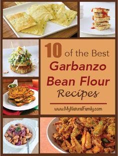 10 of the Best Garbanzo Bean Flour Recipes - MyNaturalFamily.com #garbanzo #recipe #chickpea