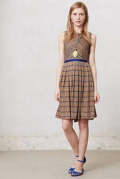 chevron pleat dress