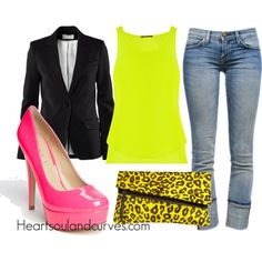 Neon (Part 6), created by adoremycurves on Polyvore