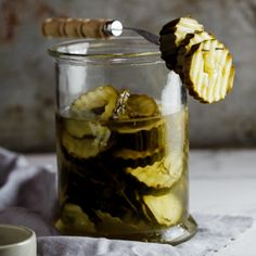 Home-made sweet & sour pickles flavoured with dill | simply-delicious-food.com #recipe #food