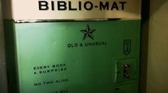 """""""A Toronto eclectic book store opened up this awesome $ 2 mystery book vending machine."""" -- This is """"mystery"""" in that you don't know what you're buying, not as in the genre."""