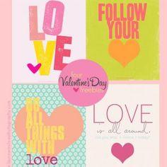 Four Valentine Quote Printables