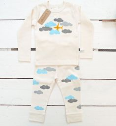A cozy and sweet set — the perfect getup for baby's first flight.
