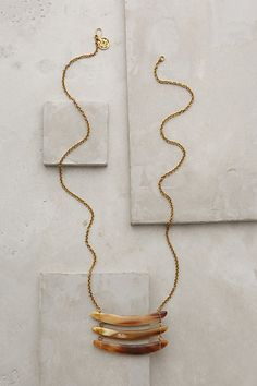 Horn necklace.