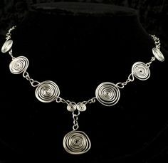 Silver Spirals Necklace from dianakirkpatrick.com