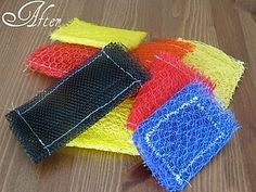 pot scrubbers made from recycled onion bags