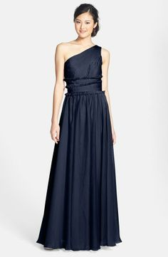 Go nautical with a navy blue dress for bridesmaids
