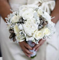 Grey Obsessed! Grey Wedding Bouquet!
