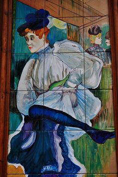 Azulejo de la taberna Tirso de Molina. Calle de la Espada. Madrid