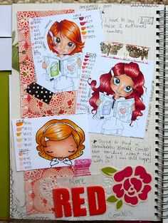 red hair Copic Journal