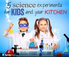 5 Science experiments for kids and your kitchen