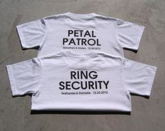 PETAL PATROL Personalized Flower Girl Wedding by TheKnottedPalm, $16.95 HAHA! This is a cute gift idea!