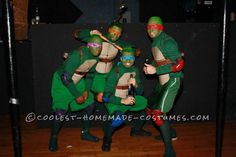 Teenage Mutant Ninja Turtles Guys Group Costume… Coolest Halloween Costume Contest