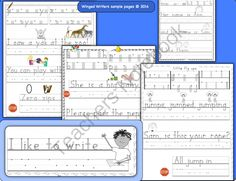 Handwriting Instruction that Works!  Winged Writers Bundle: 1st 2nd HWT style from Print Path on TeachersNotebook.com -  (74 pages)  - Proven multisensory methods to teach printing supported by quality practice pages, lesson plans, letter posters and teacher�s guide.    Do you want your children to use legible and automatic handwriting in their everyday work?   Are you tired of giving yo