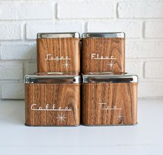 Mid Century Modern Canisters