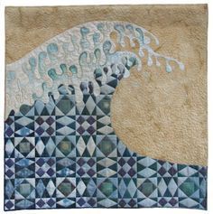 """Storm at Sea"" by Linda Kemshall. Follow the link to find more beautiful quilts from the artists of thr3fold."
