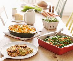 Showcase autumn's fruits, veggies, and flavors with these tempting in-season recipes: Parsnip and Potato Pancakes, Butternut Squash and Apple Bake (our healthier version of a veggie casserole), and Parsley Pesto Veggies