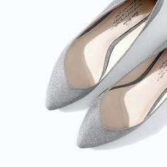 Image 4 of BALLERINA FLATS WITH CRYSTALS from Zara