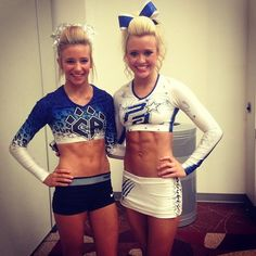 Shannon & Jamie (:  Cheer Athletics, competitive cheerleading, cheerleaders  m.11.53 moved from @Kythoni Cheerleading: Competitive board http://www.pinterest.com/kythoni/cheerleading-competitive/ #KyFun