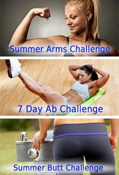 Top 3 Fitness Challenges ~ Arms, Abs, and Butt Workouts