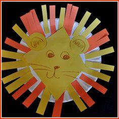 classroom idea, anim, paper plate crafts, lions, lion crafts, kid