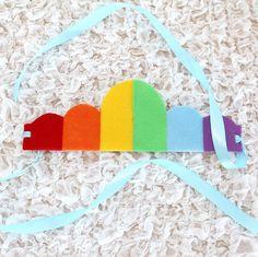 DIY Rainbow Crowns