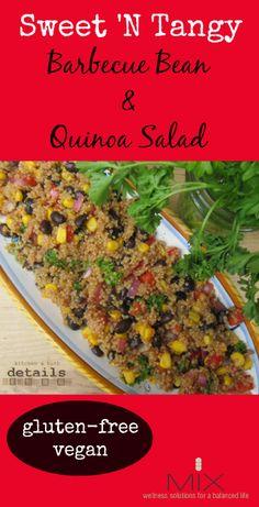 Sweet 'N Tangy Barbecue Bean & Quinoa Salad {Gluten-Free  Vegan} | www.mixwellness.com