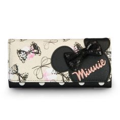 Minnie ouse with sequins bows wallet. @MINNIE YUN