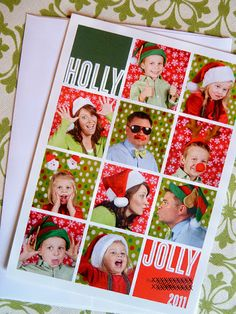 My 2011 Christmas Card.  Photo booth style with props and all.  It was perfect for the little kids and we didn't have to try and get a group shot.