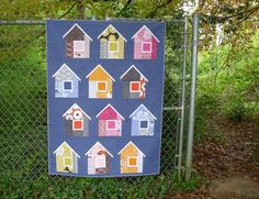 elizabeth hartman, fabric patterns, little houses, quilt patterns, hous quilt, dog houses, house quilts, madrona road, new books