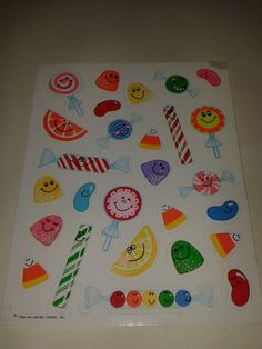 Vintage Hallmark 1984 Candy Stickers - totally had those.