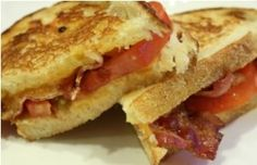 Debi's Evolving Grilled Cheese Sandwich - Personally, I find a lunch consisting of a warm grilled cheese sandwich and a hot bowl of tomato soup to be one of the all-time great comfort foods that exists.  Brings back warm, fuzzy memories of both my mom and my grandma. <3 #debihough