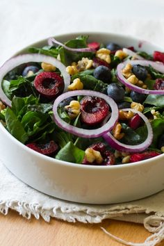 Fruit and Nut Jam Salad uses fruit jam in the salad dressing. Yum!