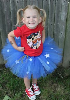 Wonder Woman TuTu  Perfect for your Superhero by JenReevesDesigns, $22.00