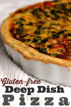 Gluten Free Deep Dish Pizza - Holistic Squid