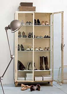 shoe display.