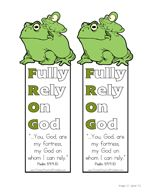 FROG Bible Printables Fully Rely on God