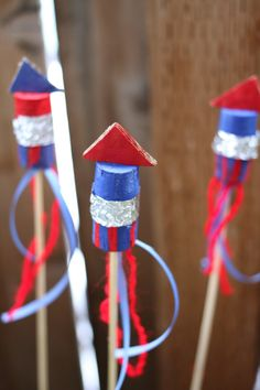Recycled Cork Fireworks #Craft