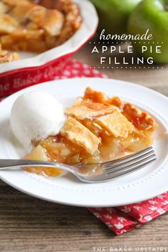 Homemade apple pie f