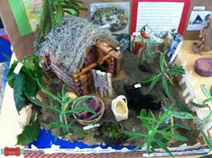 """Native American """"museum"""" made by students who researched and made their displays and even labeled everything...awesome!"""