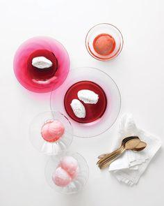 Rose Wine Sorbet / Martha Stewart Weddings Inspiration