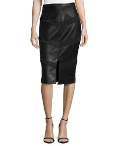 Paneled Faux-Leather