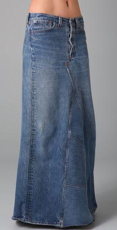 everyone needs a good jean skirt