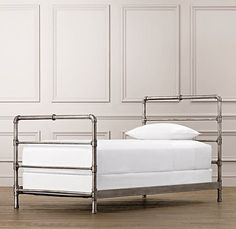 BOYS' ROOM | Industrial Steel Pipe Bed | All Beds | Restoration Hardware Baby & Child $649