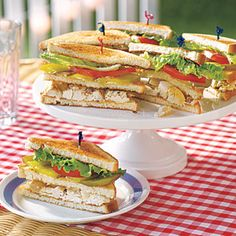 MyRecipes recommends that you make this Chicken Salad Club Sandwiches recipe from All You