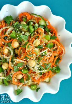 Gluten-Free Sweet and Sour Thai Cucumber Pasta Salad - Peas and Crayons