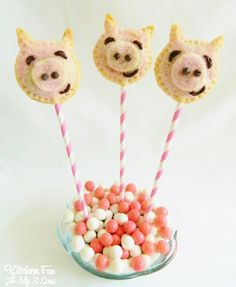Kitchen Fun With My 3 Sons: Piggy Pie Pops
